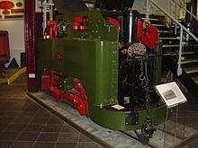 Deze foto is van een locomotief die gebruikt werd door de Guinness Brouwerij was het eerste wat geschonken werd aan het Smalspoorwegmuseum.
