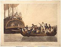 Gemälde, das die Meuterei auf der Bounty am 28. April 1789 zeigt.