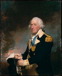 Generál Horatio Gates v čele vojsk u Saratogy (portrét od Gilberta Stuarta, 1793-94)