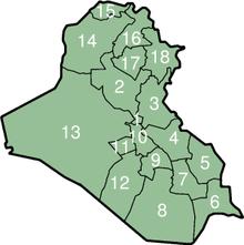 Die Provinzen des Irak