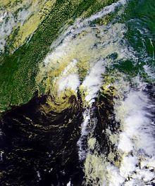 La tormenta tropical Iván cerca de su segundo aterrizaje el 23 de septiembre