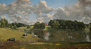 John Constable's schilderij van Wivenhoe Park in 1816