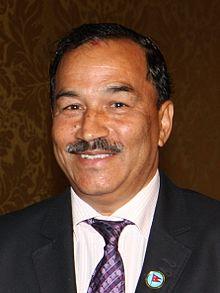 Kamal Thapa, een politicus van Nepal uit de Puwar Thapa clan