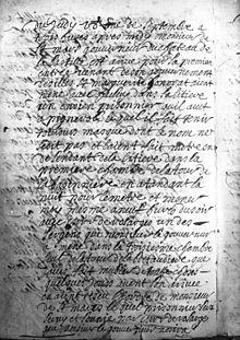Document waarin de overbrenging naar de Bastille wordt bevolen, 1698