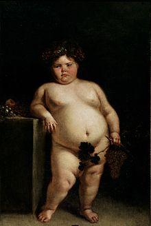 Een schilderij uit 1680 van Juan Carreno de Miranda van een meisje dat vermoedelijk het Prader-Willi-syndroom heeft