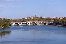 El río Garona en Toulouse.