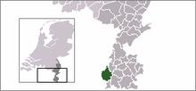 Beliggenhed af Maastricht i Nederlandene.