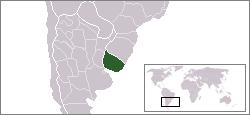 Location of Uraguay