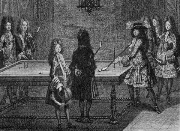 Lodewijk XIV speelt biljart (1694)