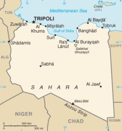 Mapa Libii