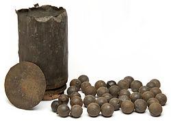 Artillerie schietkanonnen voor een 12-ponder kanon