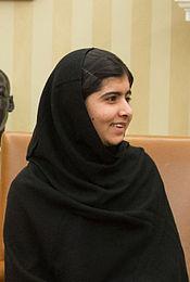 Malala Yousafzai in de Oval Office, 11.10.2013