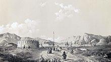 Mamasanis toren door Eugène Flandin