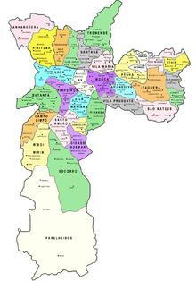 São Paulo y sus subdivisiones