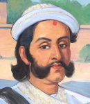 Minister-president van Nepal Mathabar Singh Thapa, een edelman van de Bagale Thapa clan...