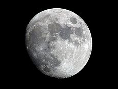 De maan van de aarde