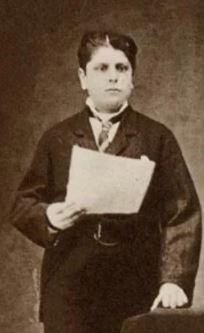 Alessandro Moreschi (1858-1922) Hij was de enige die solo-opnames maakte. Deze foto is genomen rond 1880.