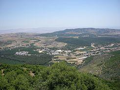 Widok na Galileę z góry Meron