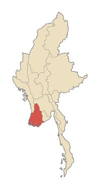 De meest getroffen divisie van Ayawawardy Division