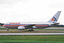"""Американские авиалинии """"Боинг 767"""", который разбился."""