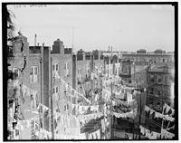 Oude huurhuizen in Manhattan.