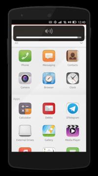 Ubuntu Touch (niet langer ondersteund) draait op de Nexus 5 smartphone