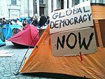 Protestkamp in Londen, ter ondersteuning van de 'Occupy' campagne