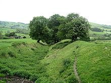 Offa's Dyke bij Presteigne in de Welshe Marken...