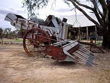 Oude oogstmachine gevonden in Henty, New South Wales
