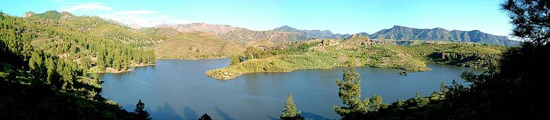 Ein Süßwasser-Ökosystem auf Gran Canaria, einer Insel der Kanarischen Inseln.