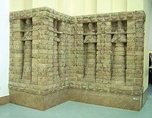 Reliëf op de voorkant van de Inanna-tempel van Karaindash uit Uruk. Pergamon Museum, Berlijn