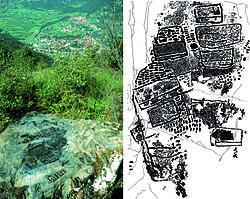 Een vroege kaart: de stad Çatalhöyük.