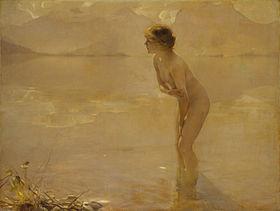 Een olieverfschilderij op doek van de Franse kunstenaar Paul Émile Chabas (1911). Reproducties van het schilderij veroorzaakten controverse in de Verenigde Staten