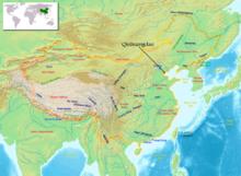 Qinhuangdao auf der Karte