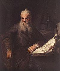 Ein Gemälde von Paulus von Tarsus von Rembrandt