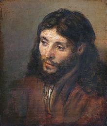 Иисус, написанный Рембрандтом, голландцем, 1600-х годов. Рембрандт использовал еврейского человека как его модель.