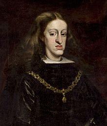 Karel II van Spanje werd geestelijk en lichamelijk gehandicapt geboren, waarschijnlijk veroorzaakt door inteelt in het Huis Habsburg