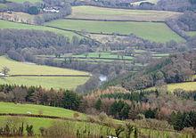 De Tamar vallei gezien vanaf Kit Hill