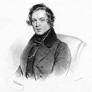 Robert Schumann im Jahre 1839.