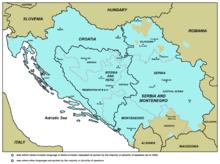 Serbokroatische Sprache auf der Balkanhalbinsel, 2005