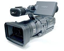 Een Sony high definition videocamera
