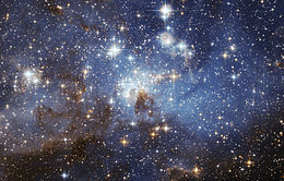 Region gwiazdotwórczy w Wielkim Obłoku Magellana. Zdjęcie NASA/ESA