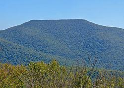 Tafelberg in de Catskill Mountains van New York