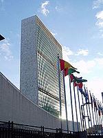 Das Gebäude der Vereinten Nationen in Manhattan
