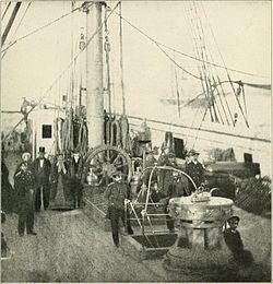 Navio russo no porto de Nova York durante a Guerra Civil Americana