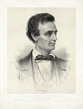 Een schets van kandidaat Abraham Lincoln