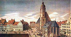 De Thomaskirche, Leipzig, 1735