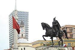 Tirana, hoofdstad van Albanië