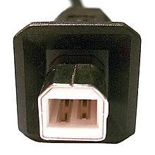 Volwaardige USB-B-stekker