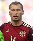Berezutski met Rusland in 2014.
